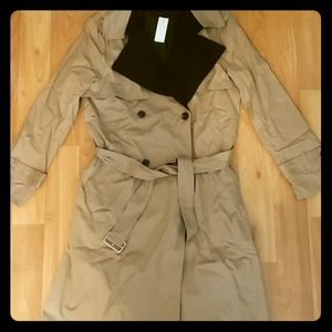 Ann taylor two-toned trench coat